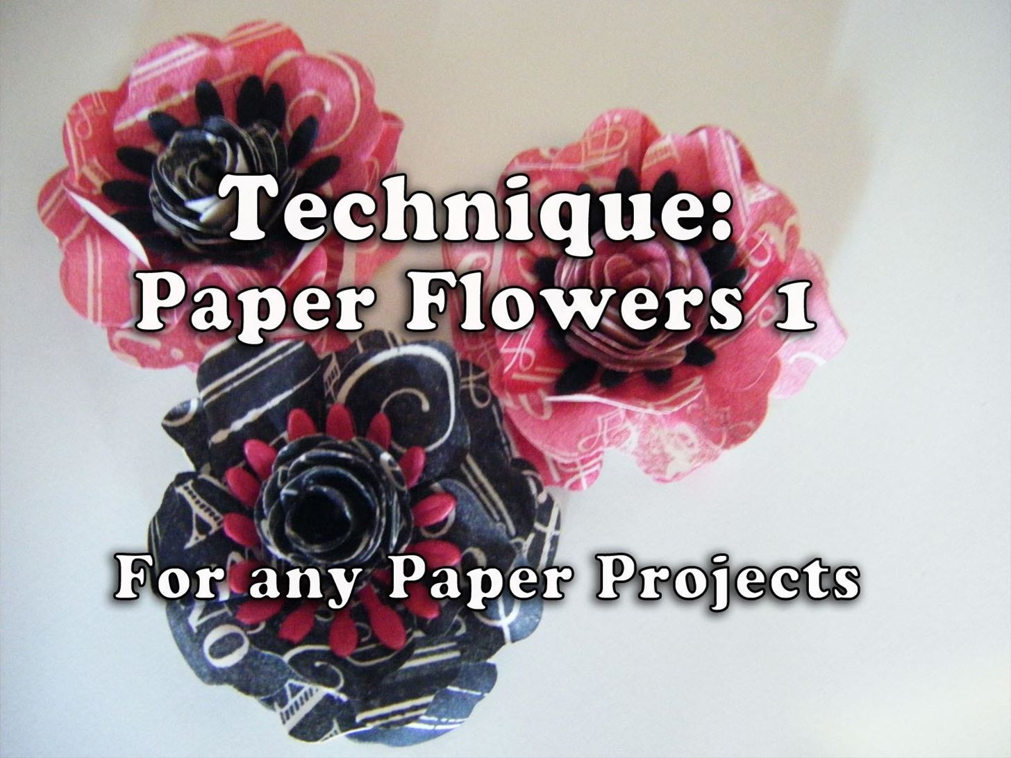 How to Make  Rubber Stamped Paper Flowers Style1