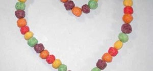Craft an edible cereal necklace with your kids