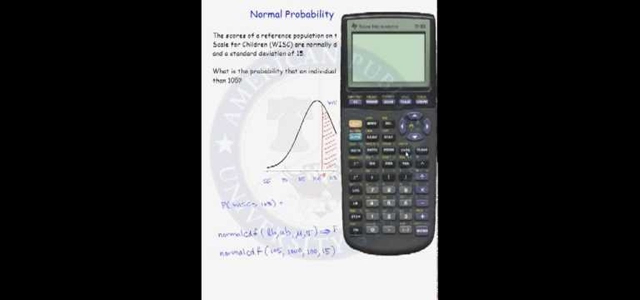 How To Do Normal Probability Calculations On A Calculator Math