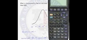 Do normal probability calculations on a calculator