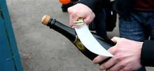 Behead a Champagne Bottle With a Saber (AKA Gnarly Sword)