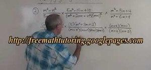 Multiply algebraic fractions
