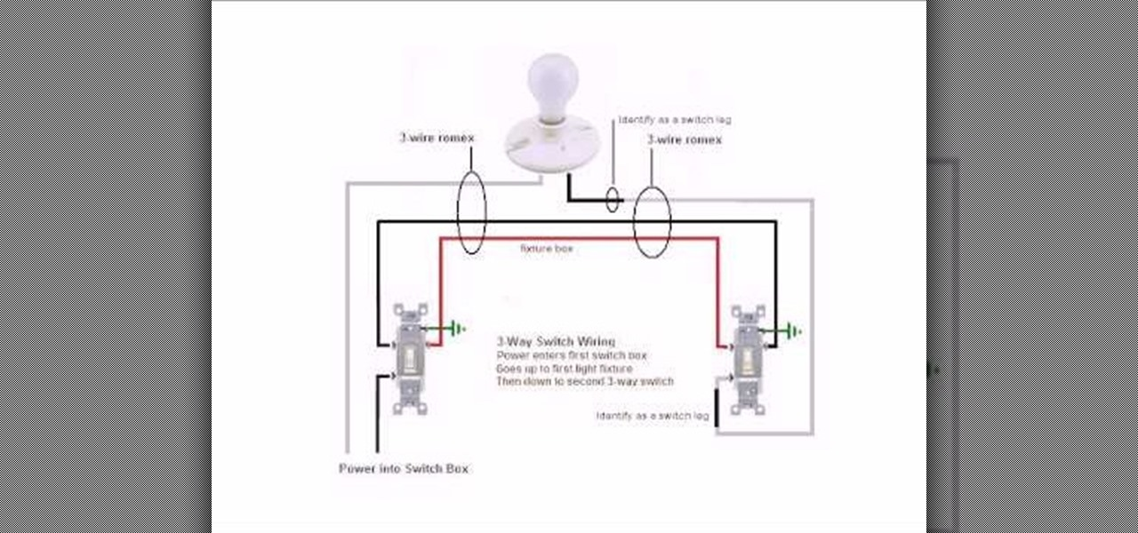 How to Wire a basic 3 way switch Plumbing Electric WonderHowTo