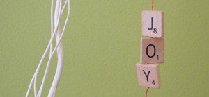 Joyful DIY Scrabble Tile Ornaments