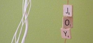 Joyful DIY Scrabble Tile Ornaments