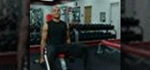 Do a barbell shoulder press