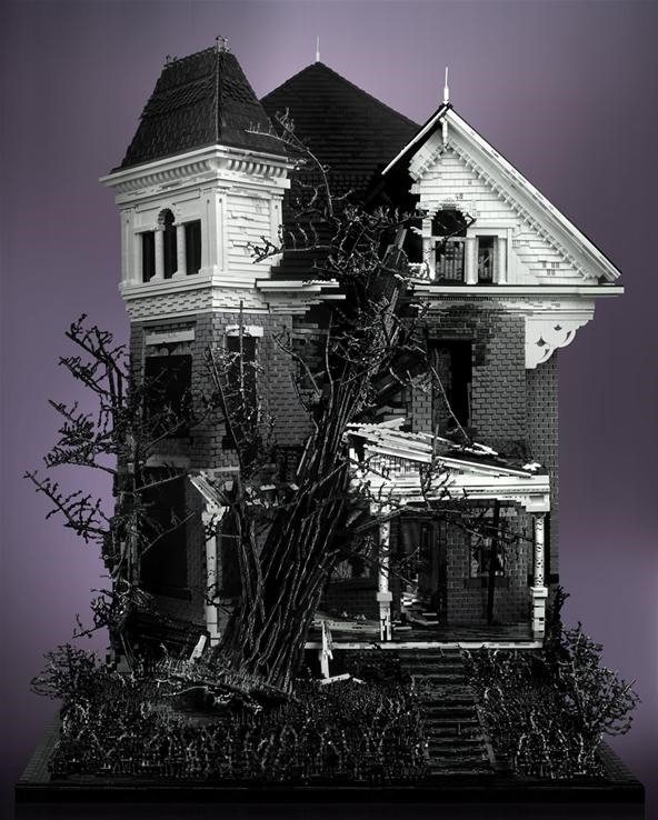 Haunted House in Rotting LEGO