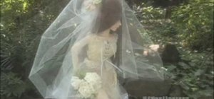 Easily make a bridal veil for your doll