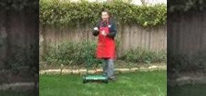 Usethe Sunlawn LMM40 manual reel mower