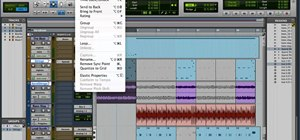 Use the menus in Avid Pro Tools 9