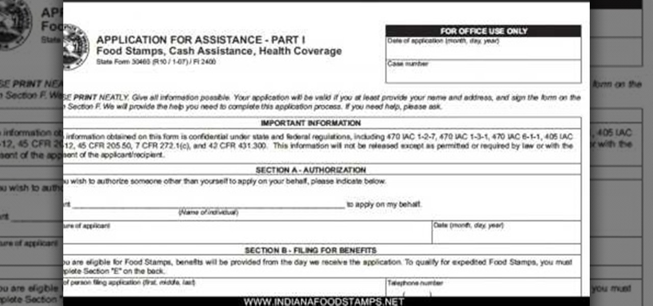 Apply For Food Stamps Indiana
