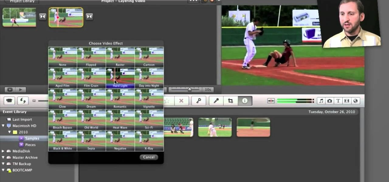 How to Create a flashing lightning effect in Apple iMovie