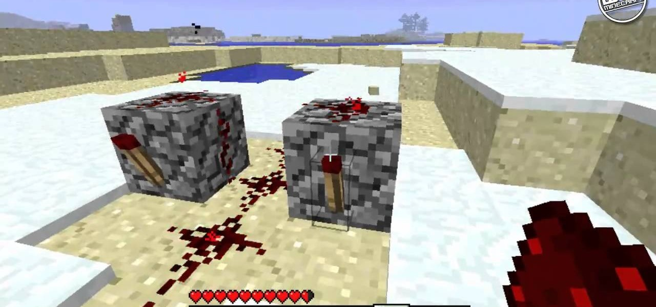 How to Build a rapid fire dispenser using redstone and stone PC