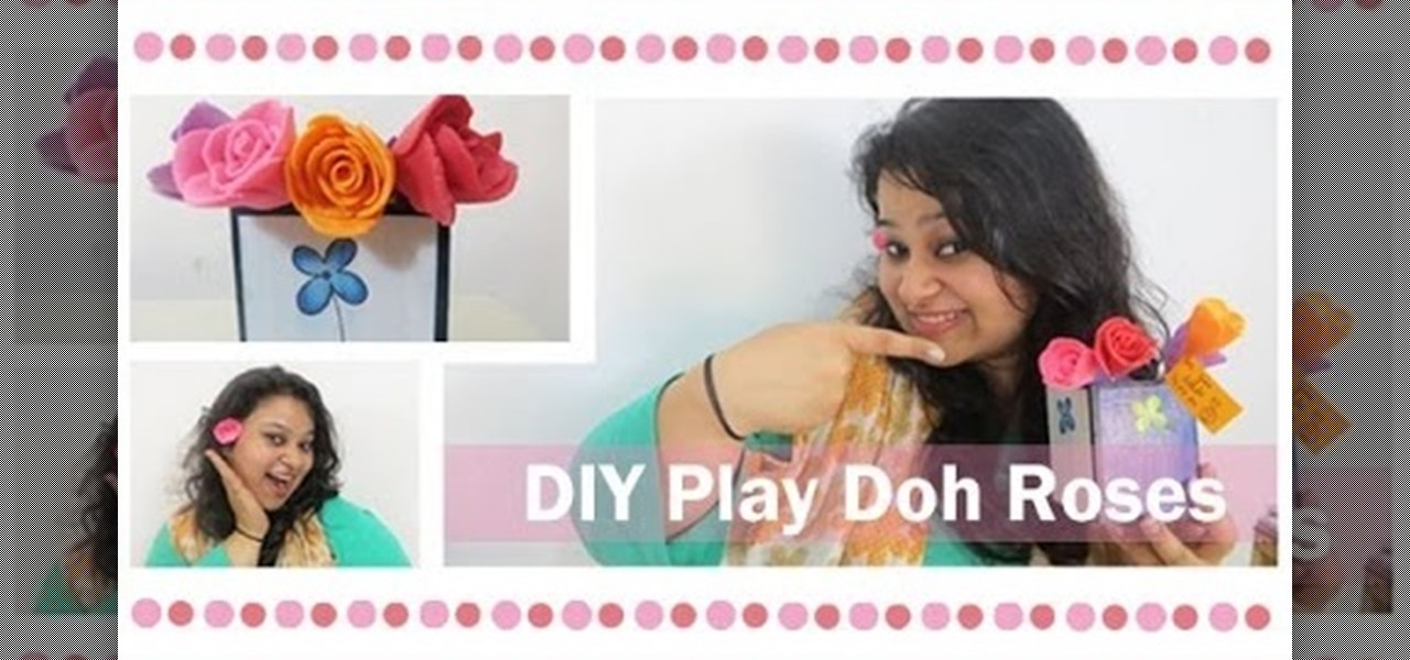 Make Play-Doh Roses for a Cute Gift Idea