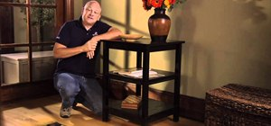 Build, finish and paint your own accent table at home