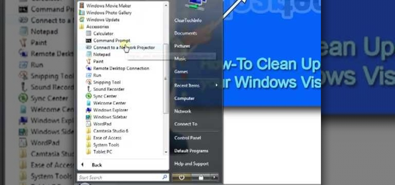 How to clean up organize your windows vista start menu for How to clean windows