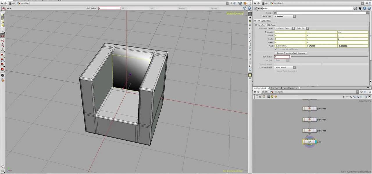 How To Model A Simple 3d Chair In Houdini Software Tips