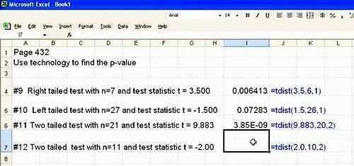 How to Find a P-Value with Excel