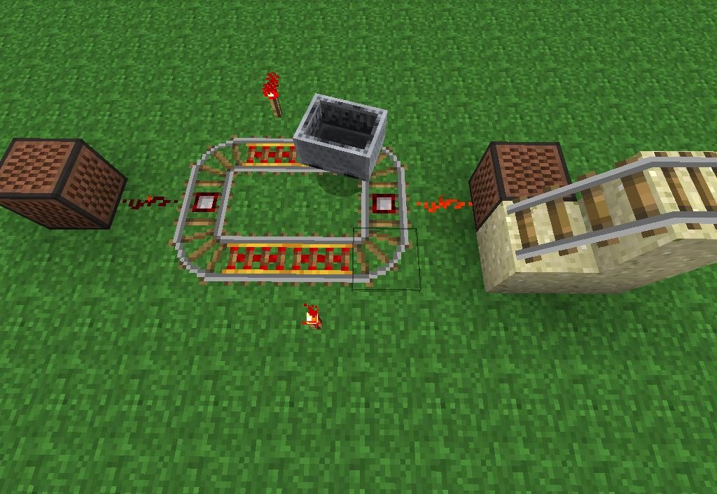 how to connect two hoppers in minecraft