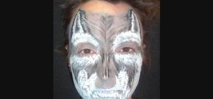 Do wolf face painting