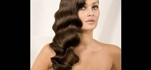 Achieve loose faux finger waves using a deep waver