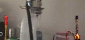 Make a homemade shisha with a plastic milk bottle