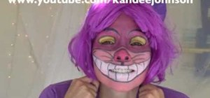 Create a Disney Cheshire cat makeup look for Halloween
