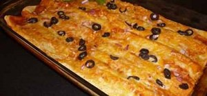 Make bean and cheese enchiladas