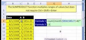Average with the MONTH function in Microsoft Excel