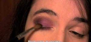 Apply a Lancome-inspired purple makeup look for Fall 2010