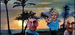 Paint a Hawaiian landscape with island inhabitants
