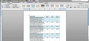 Use table styles in Microsoft Word for Mac 2011