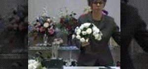 Use a silk flower bouquet arranger