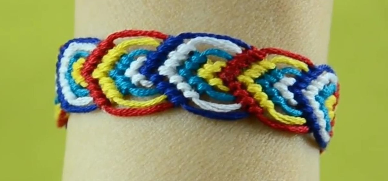 How To Macrame Leaves For A Friendship Bracelet Nice On Both Sides Mesmerizing Double Wave Friendship Bracelet Pattern