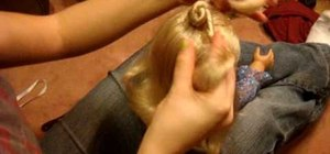 Do the triple nifty knots hairstyle on your AG doll