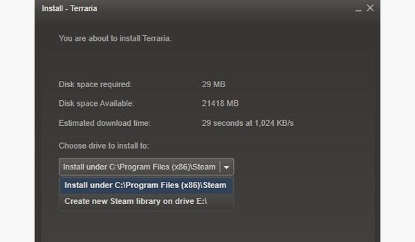 New Steam Feature Lets You Save Your Steam Games on Alternative Drives or Partitions