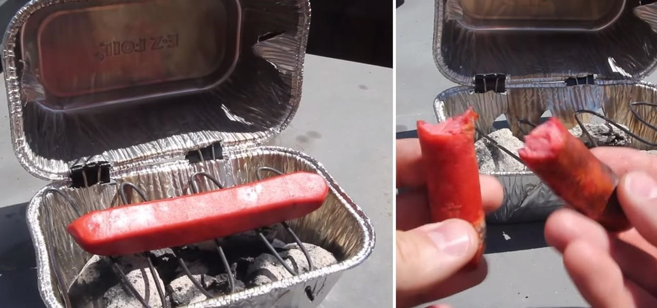 Make a Mini Grill Out of a Wire Hanger & Foil Pans