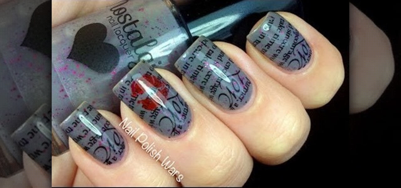 How to Do Love Letter Nail Art « Nails & Manicure :: WonderHowTo