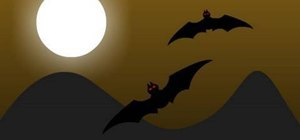 Create a looped Halloween-themed Flash animation with bats