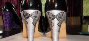 Paint a pair of high heel shoes