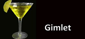 Make a vodka gimlet cocktail