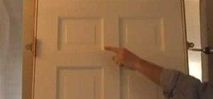 Hang an interior door properly