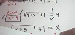 Solve equations involving square roots