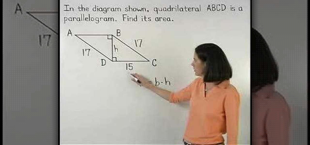 How to find the area of a parallelogram using geometry math how to find the area of a parallelogram using geometry math wonderhowto ccuart Image collections
