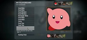 Create a custom Kirby playercard emblem in Call of Duty: Black Ops
