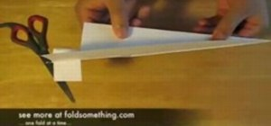 Make a simple paper airplane