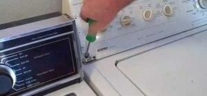 Replace your washing machine lid
