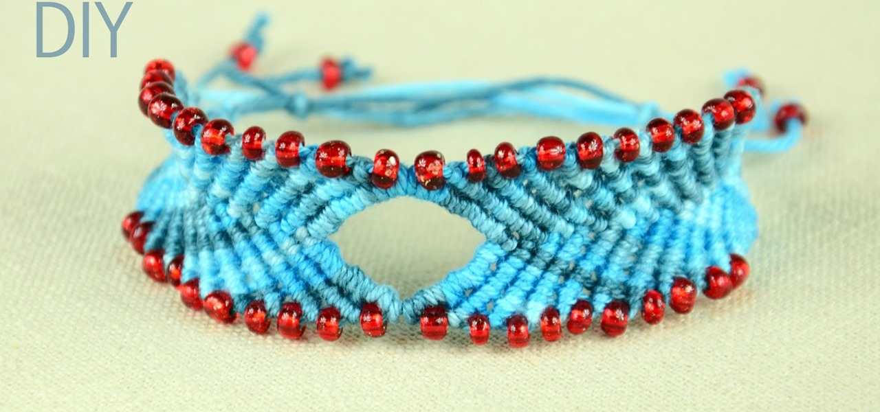 Chevron Style Bracelet with Diamond and Beads