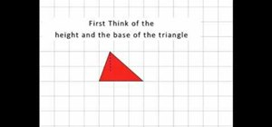 Find the area of any triangle using simple equations