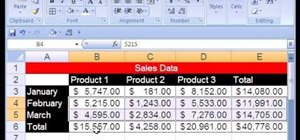 Use Excel stylistic & number formatting